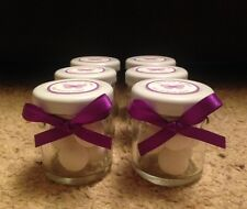 Personalised Miniature Jar Wedding Favours x 30 in Cadbury Purple