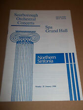 SCARBOROUGH ORCH. CONCERTS SPA GRAND HALL ~ NORTHERN SINFONIA PROGRAMME 1988