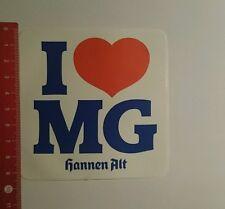 Aufkleber/Sticker: hannen alt i love Mg (151016193)