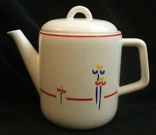 Vintage Riva Designs Tulips 4 Cup Coffee Tea Pot with Lid Made In Japan