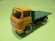 FJ FRANCE JOUET  BERLIET GAK - FLAT BED TRUCK - YELLOW 1:55  - GOOD CONDITION