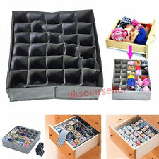 30 Cell Bamboo Charcoal Socks Underwear Ties Organizer Drawer Closet Storage Box