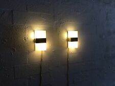 2 great modern wall lamps lucite brass springer hollywood regency art deco