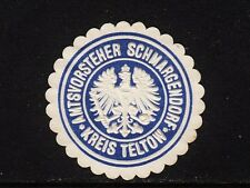 400422/ Siegelmarke - Amtsvorsteher SCHMARGENDORF - Kreis Teltow