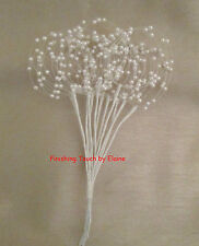 12 blanc filaire tiges de pearl bead hoop sprays. mariage bouquets... décoratif