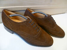 New & Lingwood snuff suede oxford brogue UK 9.5 43.5 vtg Poulsen Skone wingtip