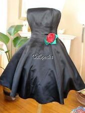 NWT BETSEY JOHNSON VINTAGE EVENING DUCHESS SATIN DRESS~4 **SALE**