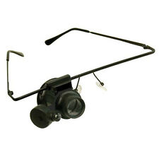 Hand-Free Lighted Loupe on eyeglass Frame 20X Magnification on/off Light Magnify