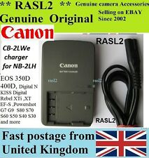 Genuino Original Canon charger,cb-2lwe Nb-2l Ion Nb-2lh Powershot G7 G9 S60 S70 S80