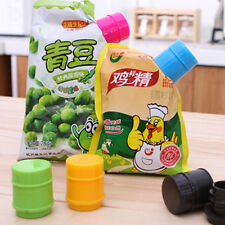 Chic Lovely Kitchen Home Food Liquid Powder Bag Sealing Discharge Cap Tube Clip