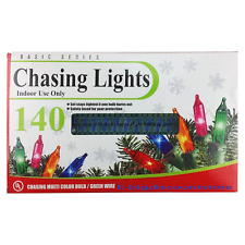 1 Set of 140 Indoor Multi Color Christmas Chasing String Light Decoration UL