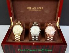 NEW-MICHAEL KORS RUNWAY COLLECTION GOLD,ROSE GOLD,SILVER CHRONO. WATCH-MK5683