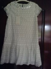 MONSOON 'LYRA' LACE 0FF WHITE DRESS. AGE 9. NEW WITH TAGS.