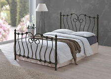 New Inova Black 5ft King Size Victorian Style Metal Bed Frame RRP £239