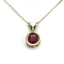 """14K YELLOW GOLD WITH GENUINE RUBY PENDANT 18"""""""