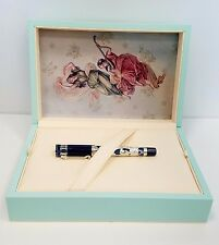 """MONTEGRAPPA """"Teatro Fenice"""" Sterling Silver & Blue Rollerball Pen MSRP $5,000"""