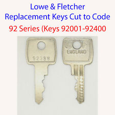 Lowe & Fletcher Replacement Filing Cabinet Key 92 Series Key Codes 92001-92400