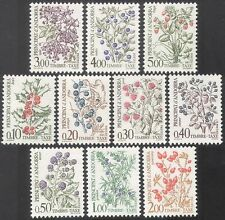 Andorra 1985 Postage Due/To Pay/Fruits/Flowers/Plants/Nature 10v set (n41710)