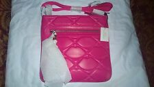 Lulu Guinness - Shocking Pink Quilted Lips Small Jamie - BNWT