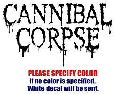 "CANNIBAL CORPSE Band Rock Music Vinyl Decal Car Sticker Window bumper Laptop 7"""