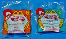 McDonalds HOT WHEELS Lot of 2 NASCAR wDecals/Stickers (Sealed - #6 #8) 1998 NIP