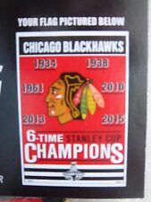 NHL CHICAGO BLACKHAWKS 6-TIME STANLEY CUP CHAMPIONS VERTICAL HOUSE FLAG