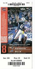 2014 NEW ENGLAND PATRIOTS VS BUFFALO BILLS TICKET STUB 12/28 TY LAW