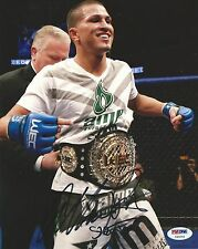 Anthony Pettis Signed UFC 8x10 Photo PSA/DNA COA 53 Picture w WEC Belt Autograph