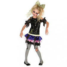 RUBIE'S COSTUME ZOMBIE DOLL  KIDS SIZE MEDIUM (5-7 YEARS)  HALLOWEEN DRESS 16845