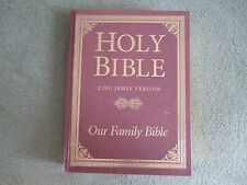 Holy Bible KJV Our Family Bible words of Christ in Red Nelson '71 Slightly Used!