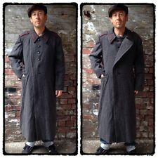 "VTG 40"" CH RUSSIAN MILITARY WOOL GREATCOAT OVERCOAT STEAMPUNK GOTH WITHNAIL & I"