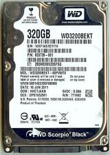 WESTERN DIGITAL WD3200BEKT-60PVMT0 320GB SATA HARD DRIVE DCM: HHCTJAKB
