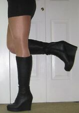 Material Girl Mamiee Black Wedge Boots 9