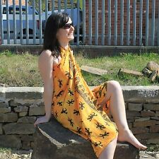 Yellow Gecko Sarong - Cover Up Wrap Beach Swimming Pool Summer Shawl Scarf