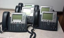 LOT of 5 Cisco Systems CP-7961G V01 VoIP Office Desk Phone NO ADAPTERS FREE SHIP