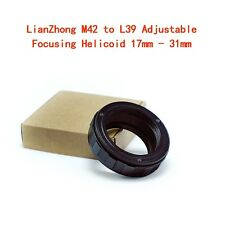 LianZhong  M42 to L39 Adjustable Focusing Helicoid 17mm - 31mm