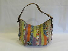 Fossil Multi Colored Fabric Zipper/Magnetic Snap Hobo Bag  - GR8!