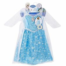 "Disney Frozen Elsa Light-up Musical Dress Costume Sings ""Let It Go"" Size 4-6X"