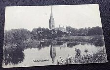 POSTCARD: SALISBURY CATHEDRAL: BLACK AND WHITE: POSTED