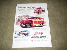 1947 / 1948 Jeep Station Wagon USA Prospekt Blatt single Brochure