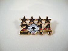 """Fußball WM-Pin """"Weltmeister 2014 - 4 Sterne"""" Deutschland WC Sieger"""