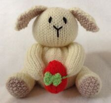 KNITTING PATTERN - Cream Easter bunny and egg chocolate orange cover /toy rabbit