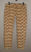 NWT 7 FOR ALL MANKIND CROPPED SKINNY TOFFEE IKAT PRINT STRETCH JEANS NEW SIZE 29