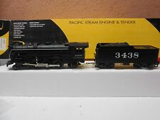 O Scale K-Line K300303 ATSF Steam Locomotive & Tender with Whistle and Smoke
