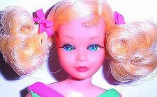 Rare Vintage Mod 1970 SEARS Lemon Blonde Living Bendable Skipper Barbie Mint