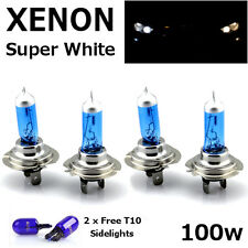 4 x H7 100W SUPER WHITE XENON UPGRADE HEADLIGHT BULBS SET 499 12V FULL/DIPPED I