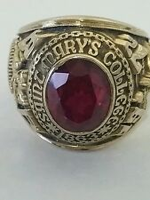 1972 Men's 10K Gold Class Ring Saint Mary's College Signed Josten