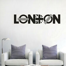 LONDON Quote Wall Sticker Famous City Name Home Decal Removable Vinyl Wall Mural