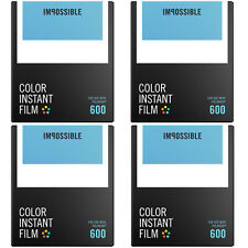 Impossible Instant Color Film for Polaroid 600 type cameras (PRD4514) 4-Pack