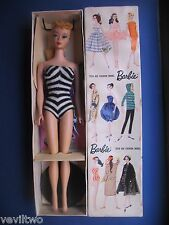 Vintage Barbie  #4 PONYTAIL BLOND ALL ORIGINAL COMPLETE WITH ACCESSORIES MIB